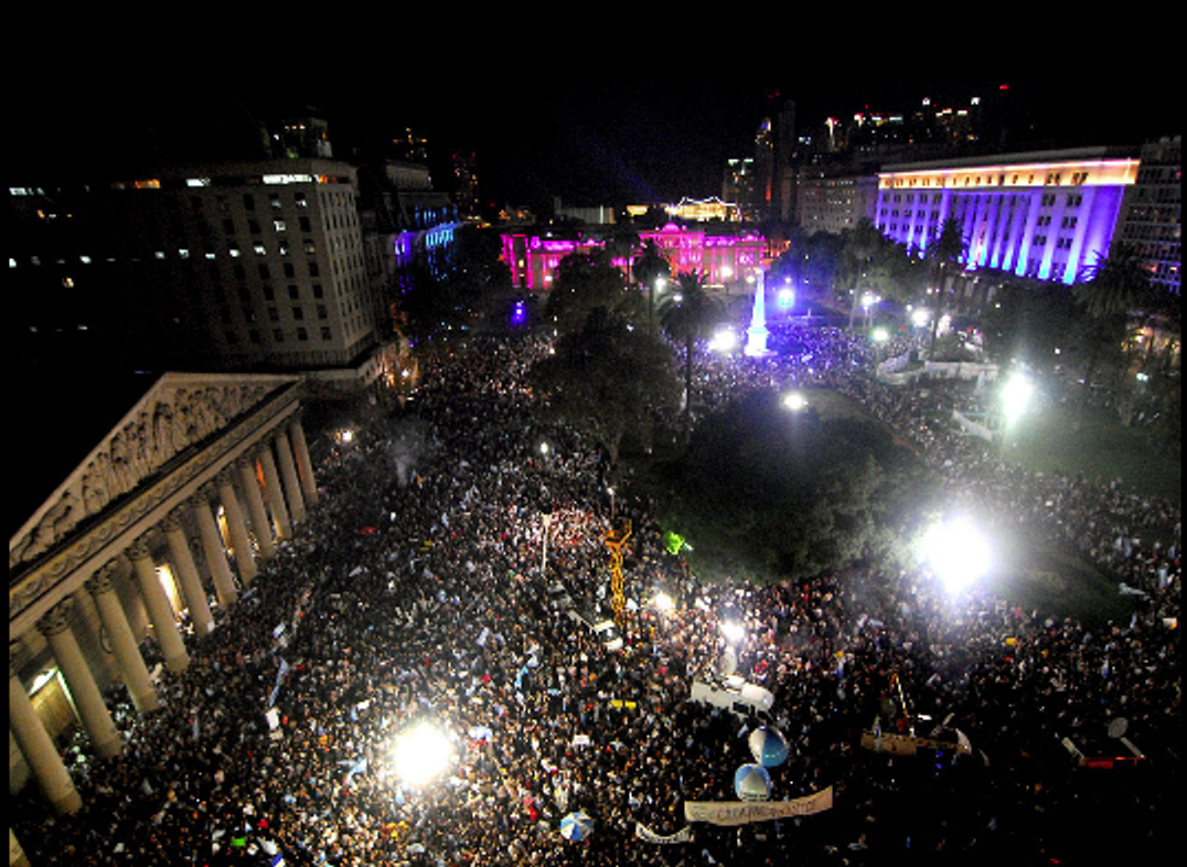 Mass Protests Argentina Price Inflation