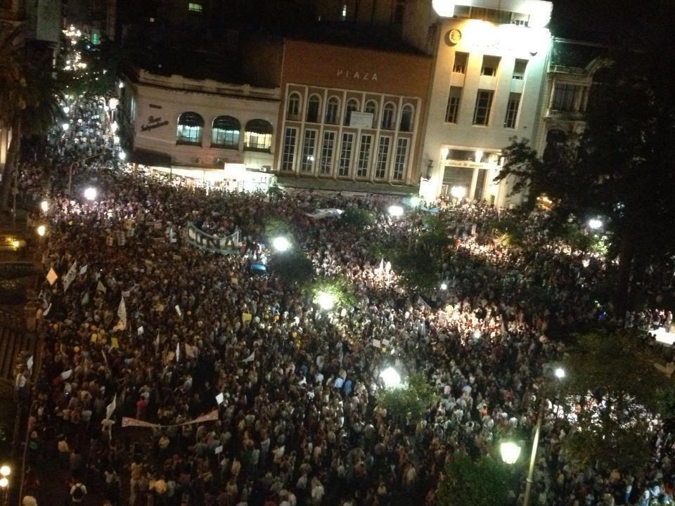 Argentine Protest Massive Rally Picture Buenos Aries