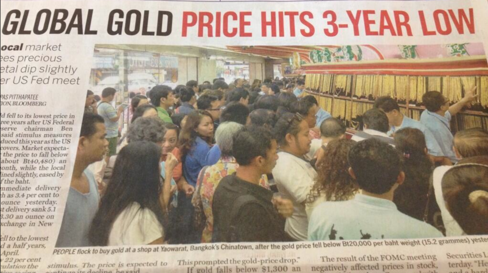 People Going Crazy To Buy Gold In Bangkok Thailand