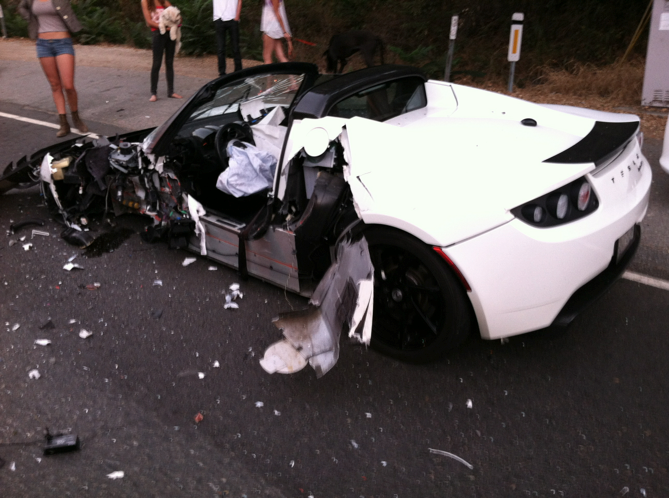 Mike Maloney in Horrible Car Crash with Tesla - GoldSilver.com