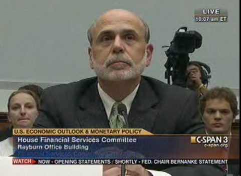 C-SPAN-3 Live:  Fed Chairman Bernanke Testifies Live