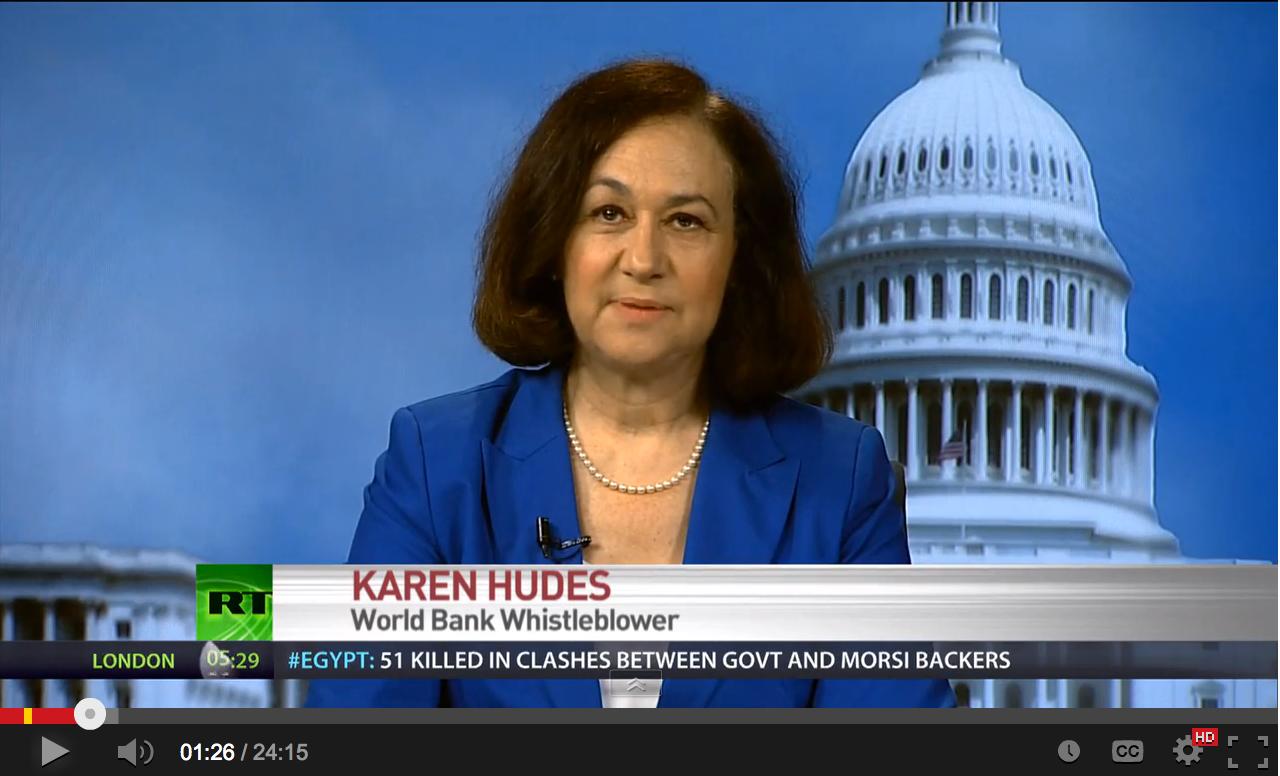 Karen Hudes - \'Dollar valueless, about to crash\' - World Bank whistleblower