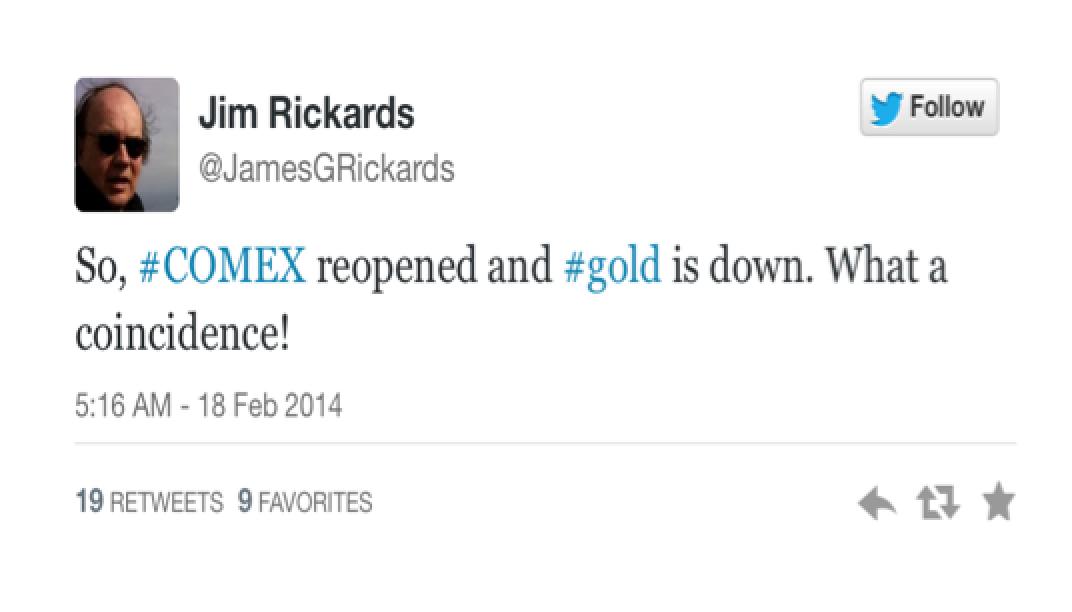 Tweet From Jim Rickards