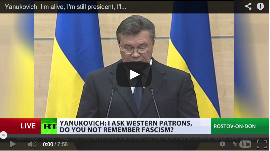 Yanukovich - I\'m Alive, I\'m Still President, I\'ll Be Back (FULL STATEMENT)