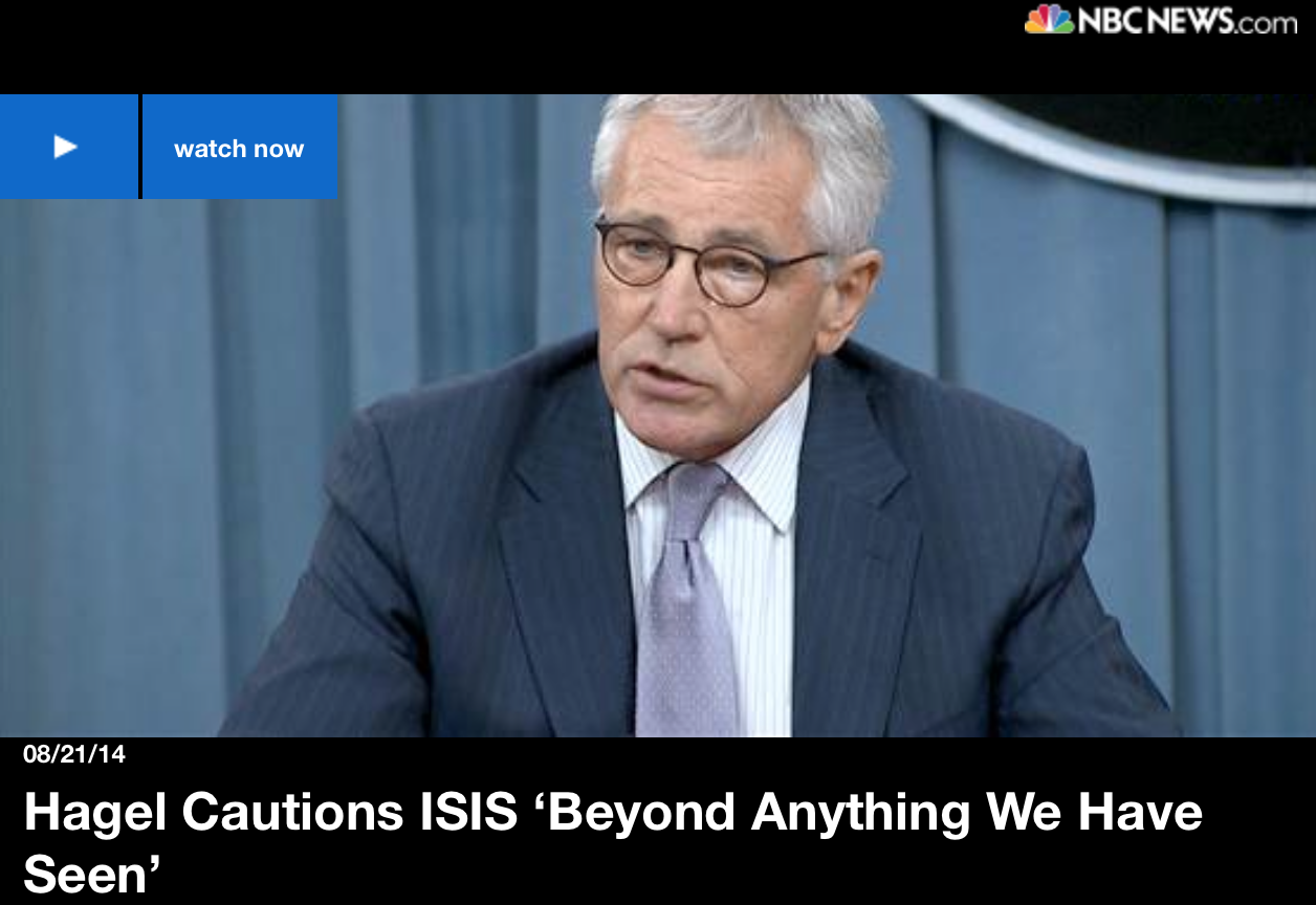 Chuck Hagel Goes Full Fearmonger -