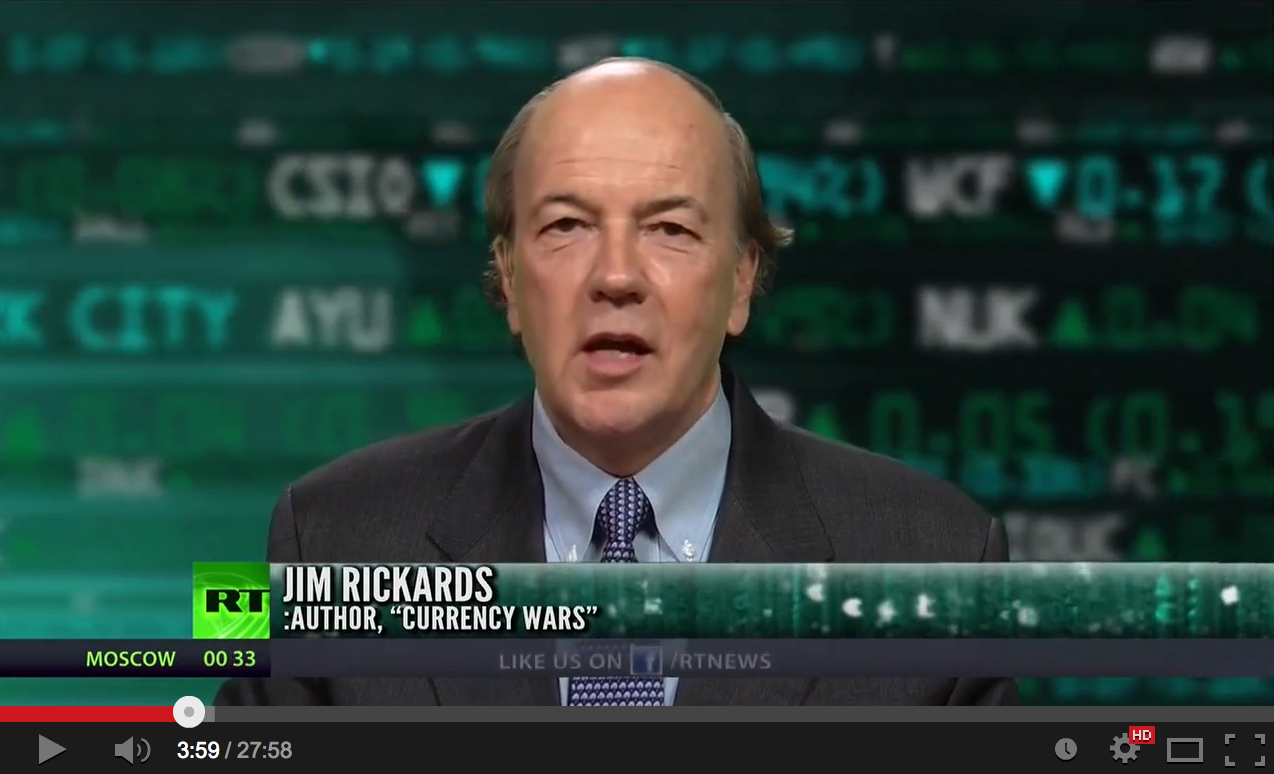 Jim Rickards on Gold and The World is in a Depression