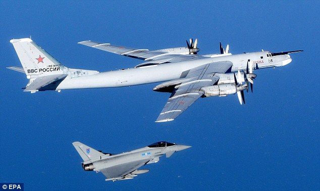 UK Scrambles Fighter Jets To Intercept Two Russian Strategic