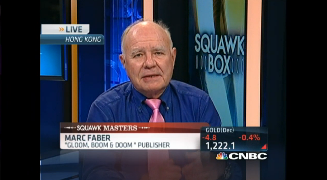 Marc Faber on a Global Recession