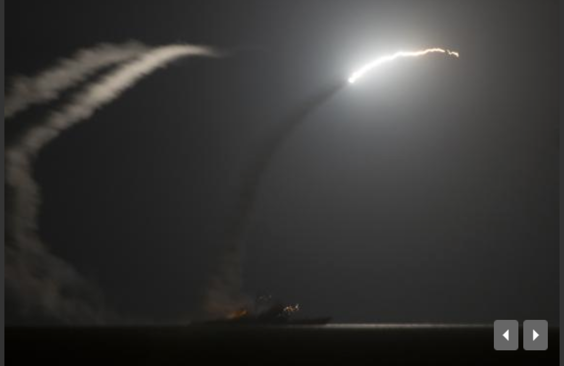 U.S. and Arabs allies launch first strikes on fighters in Syria