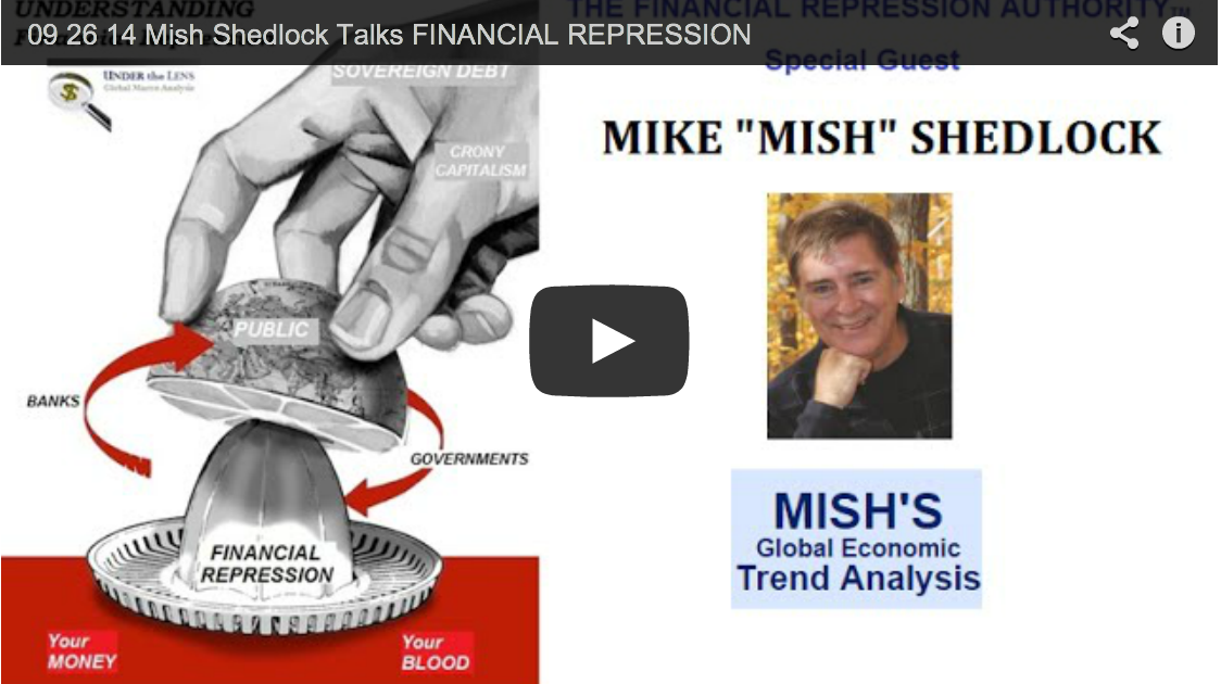 Mish Shedlock Talks FINANCIAL REPRESSION with Gordon T. Long