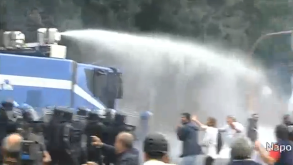 Police Unleash Water Cannons, Tear Gas To Disperse 'Block ECB' Protesters In Naples - Live Feed