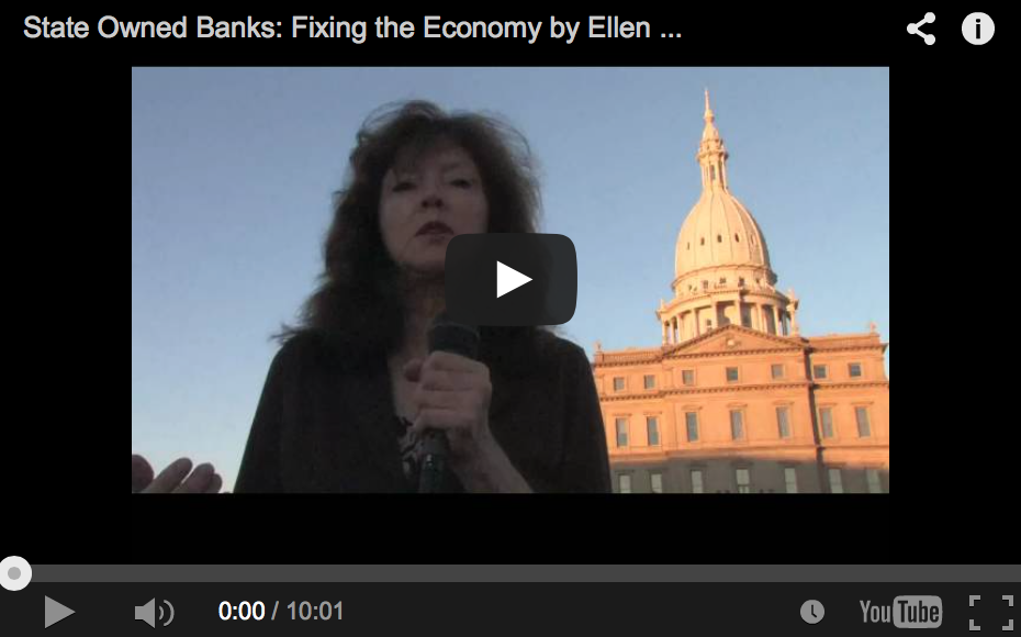 Fixing the Economy with State Owned Banks - Ellen Brown
