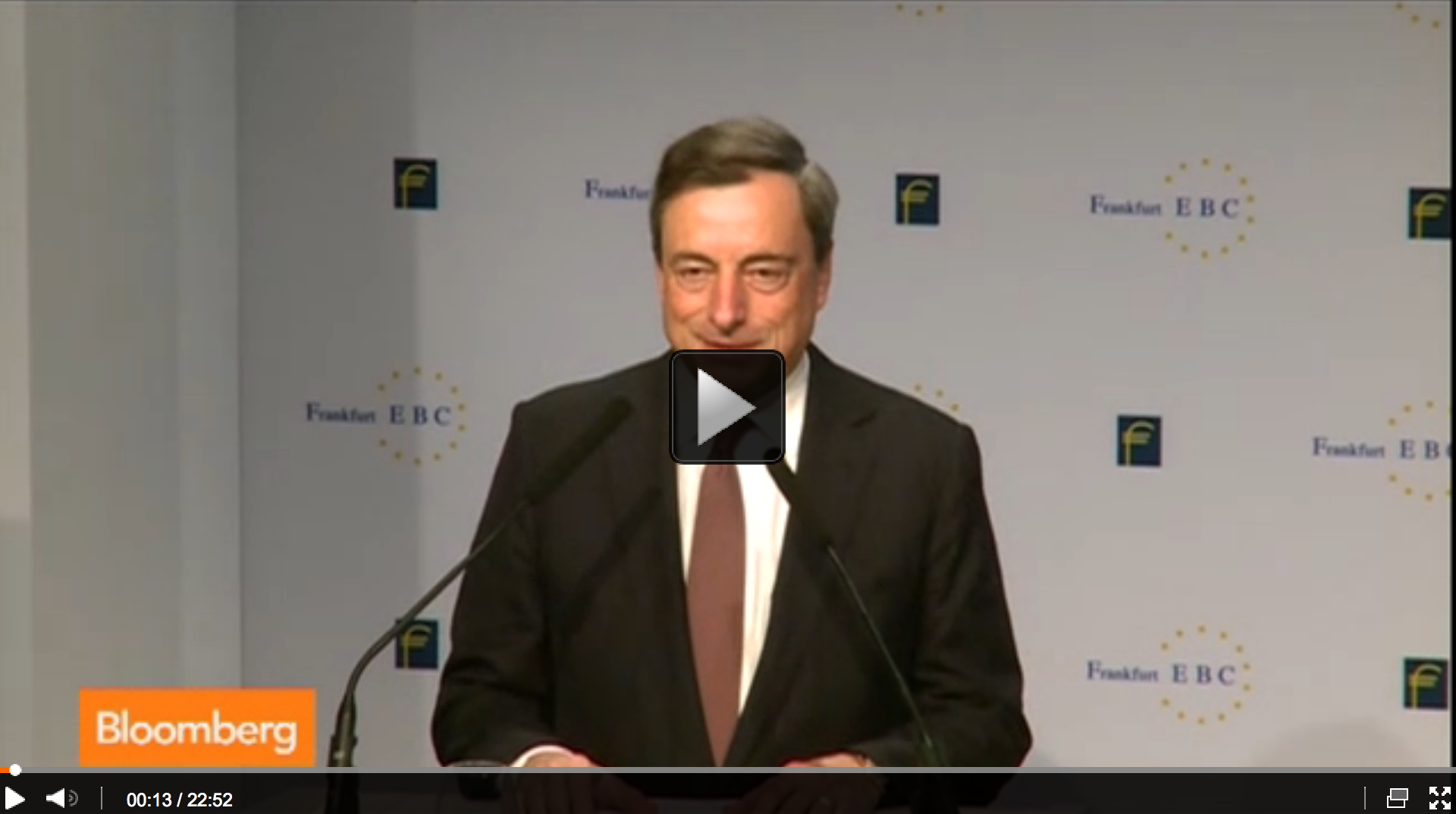 Draghi Says ECB Must Drive Inflation Higher Quickly
