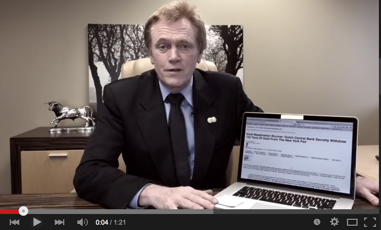 BREAKING: Top Secret Gold Repatriation - Mike Maloney