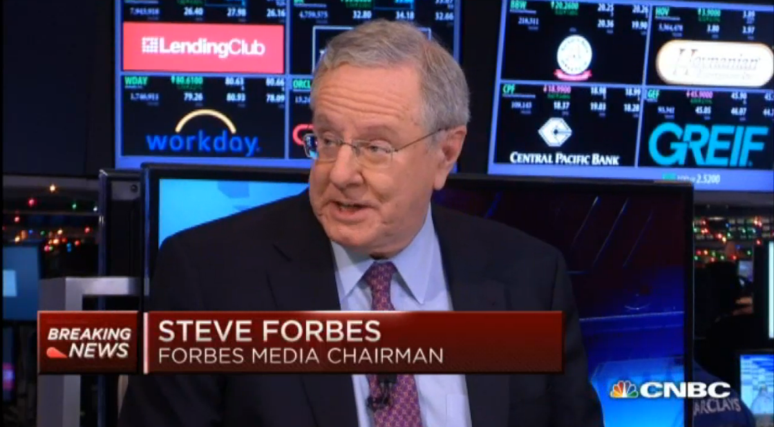 Central banks don't know what they're doing - Steve Forbes