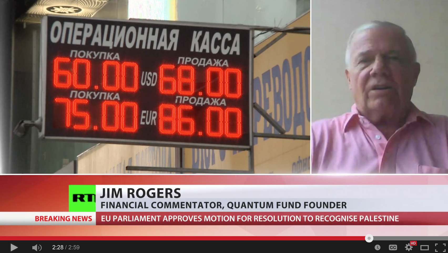 Jim Rogers on ruble - Russian central bank doing it right