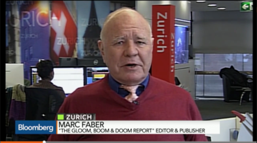 Marc Faber - Gold is Now Inexpensive and is the place to Be