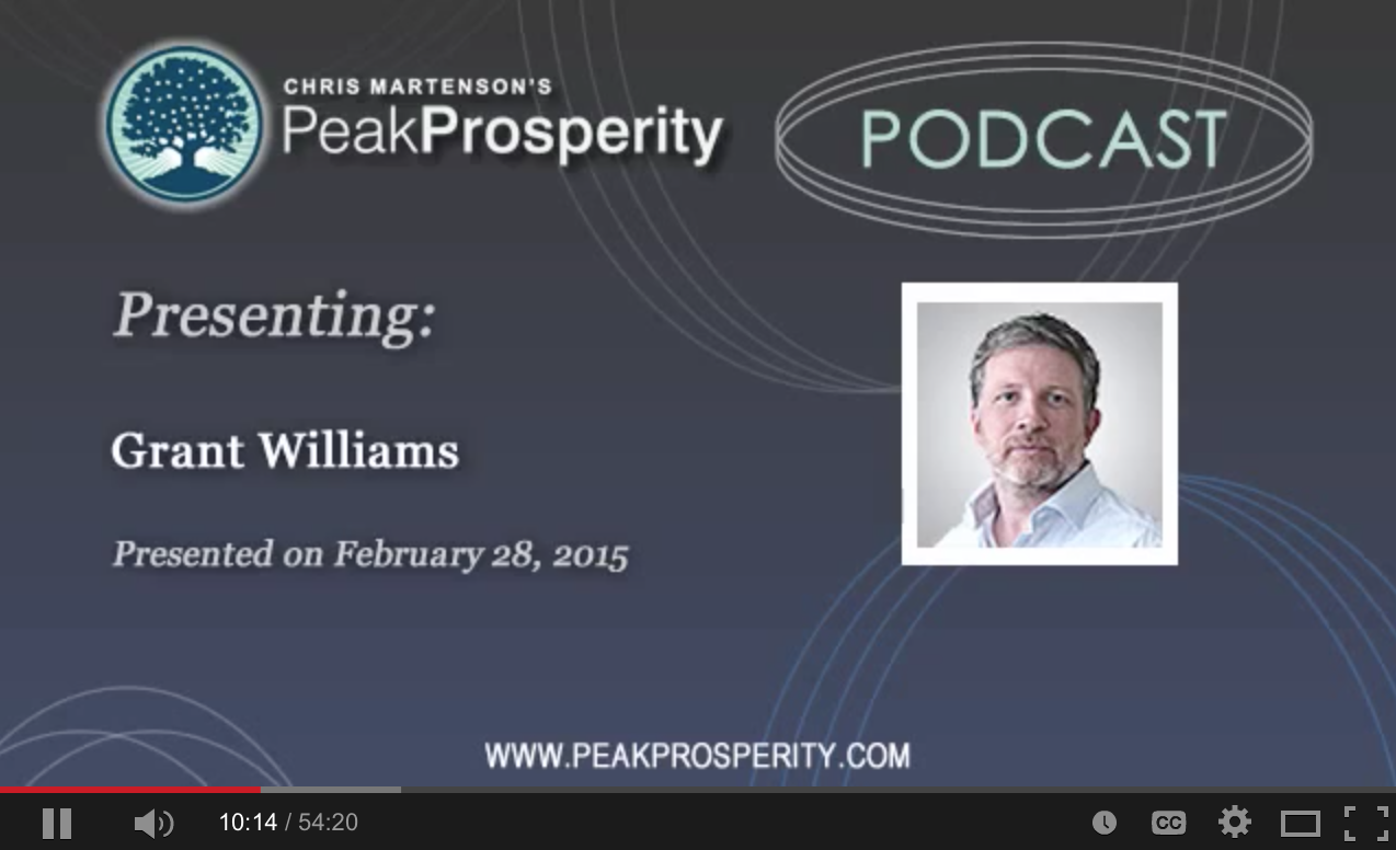 Grant Williams - Why The Smart Money Is So Nervous Now