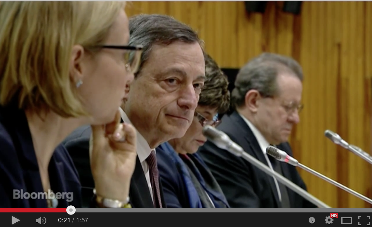 Draghi's ECB News Conference in Two Minutes