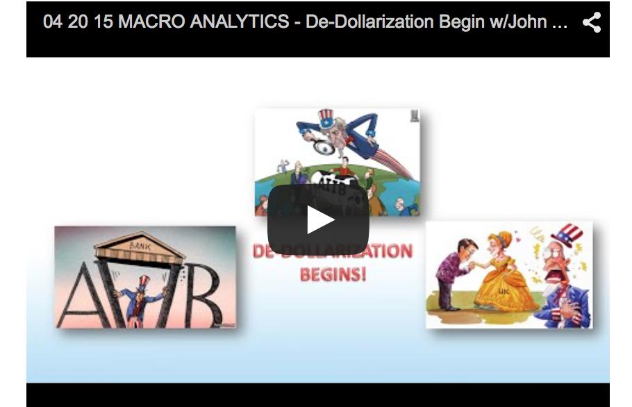De-Dollarization Begin with John Rubino and Gordon T. Long