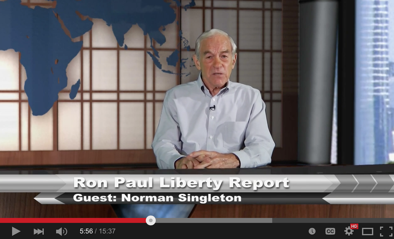 If you Love Freedom and Liberty, watch Ron Paul's Report