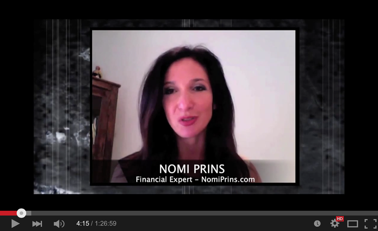 Nomi Prins - Bankster House of Cards! Secret Finance QE and Zirp