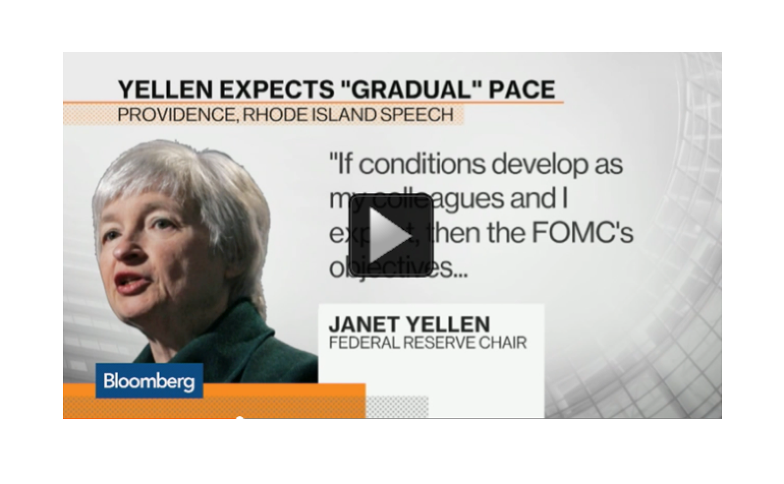 Yellen Sees Rate Rise in 2015 if the Economy Improves