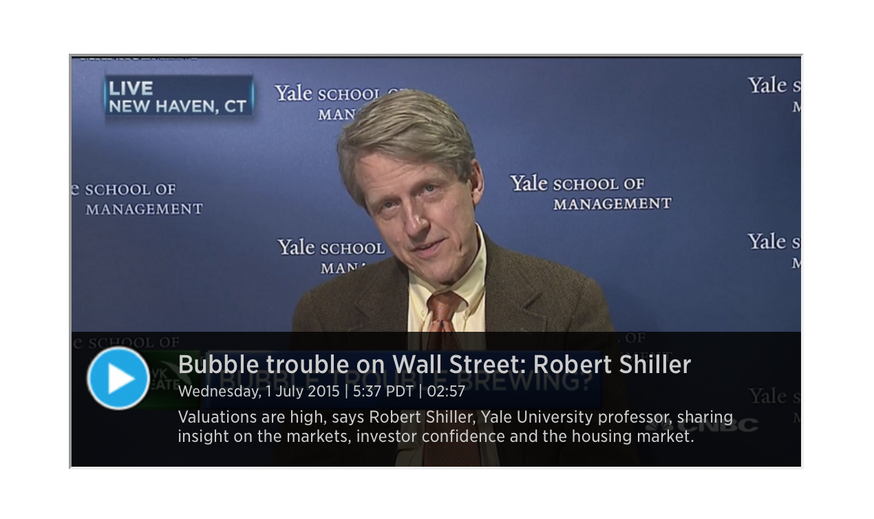Robert Shiller - The Wall Street Bubble