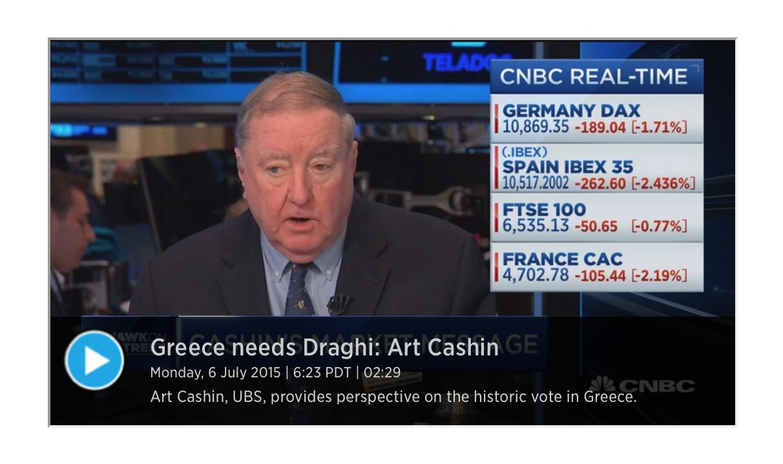 Art Cashin - The Money Is Running Out!