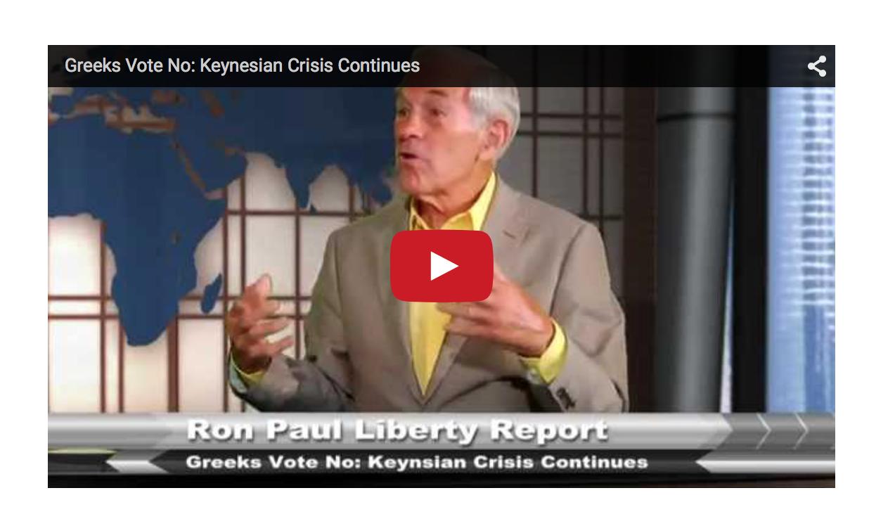 Greeks Vote No - Keynesian Crisis Continues