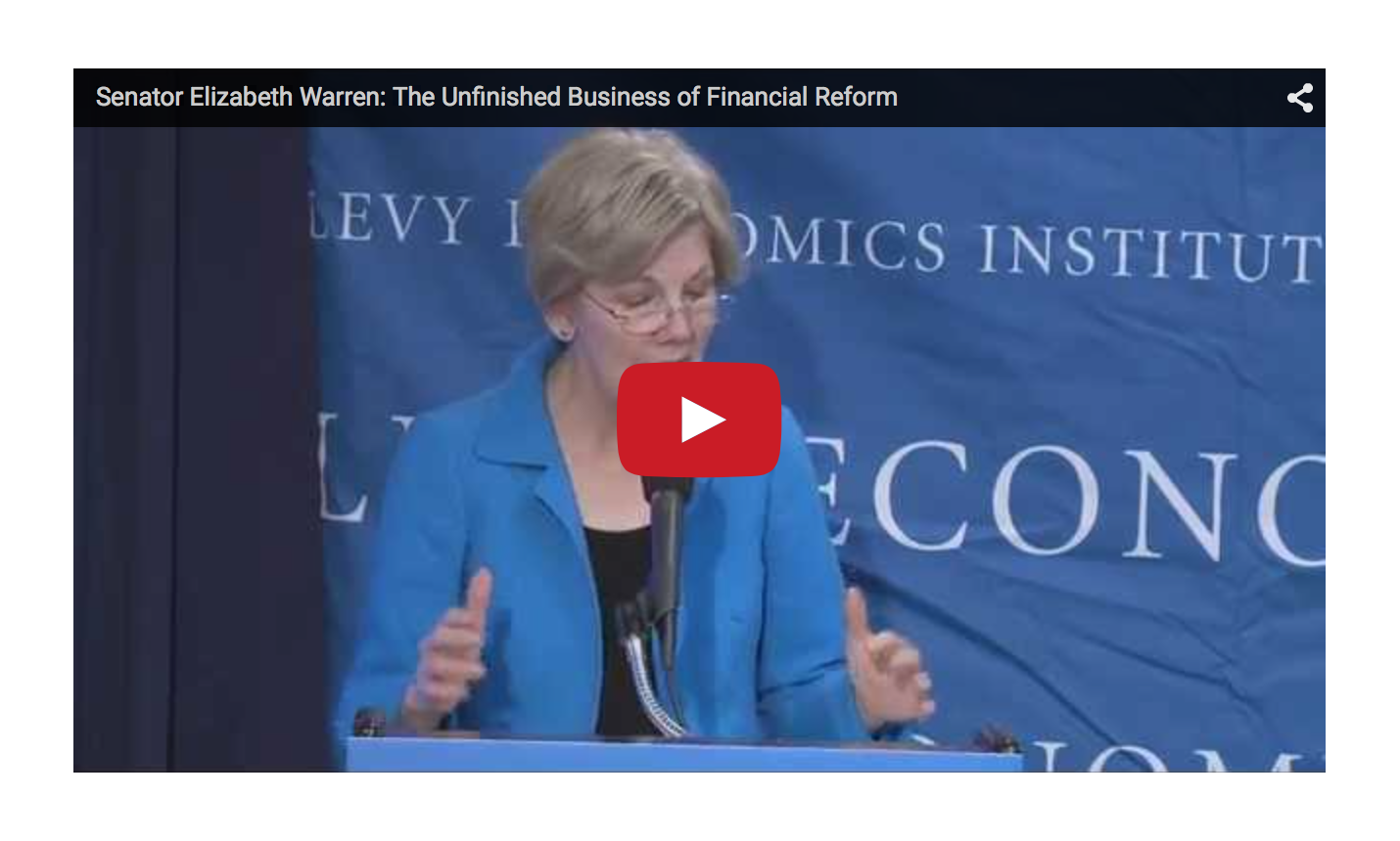 Elizabeth Warren - The 14 Trillion Dollar Scam and the Unfinished Business of Financial Reform