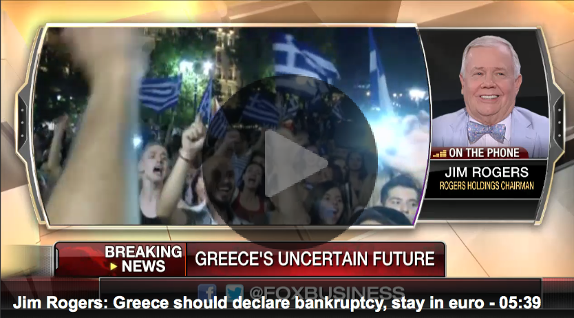 Jim Rogers - Greek �no vote,� predicts what Greece will/should do