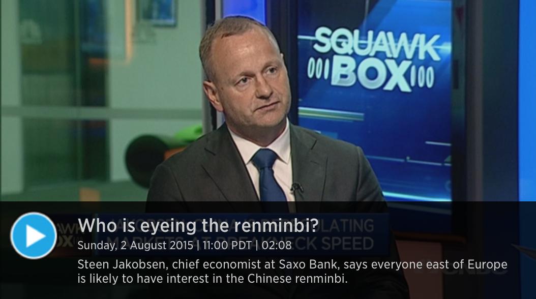Dollar Has Peaked - Steen Jakobsen, Chief Economist Saxo Bank