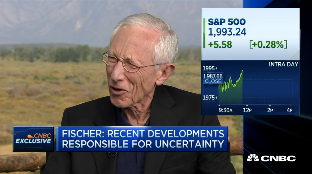 Fed's Fischer - Too early to decide on Sept hike