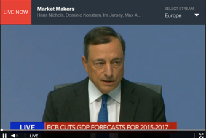 Draghi Speaks at ECB News Conference - LIVE
