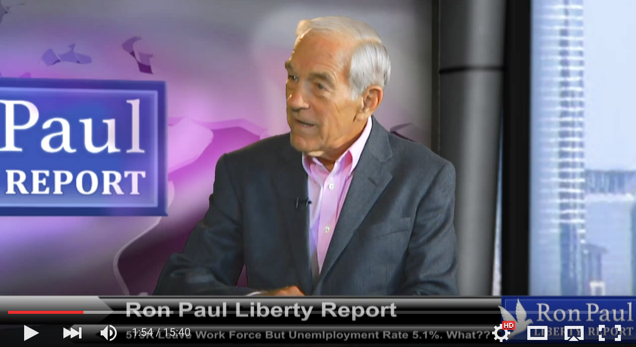 579K Leave Work Force But Unemployment Rate At 5.1%? What?? - Ron Paul