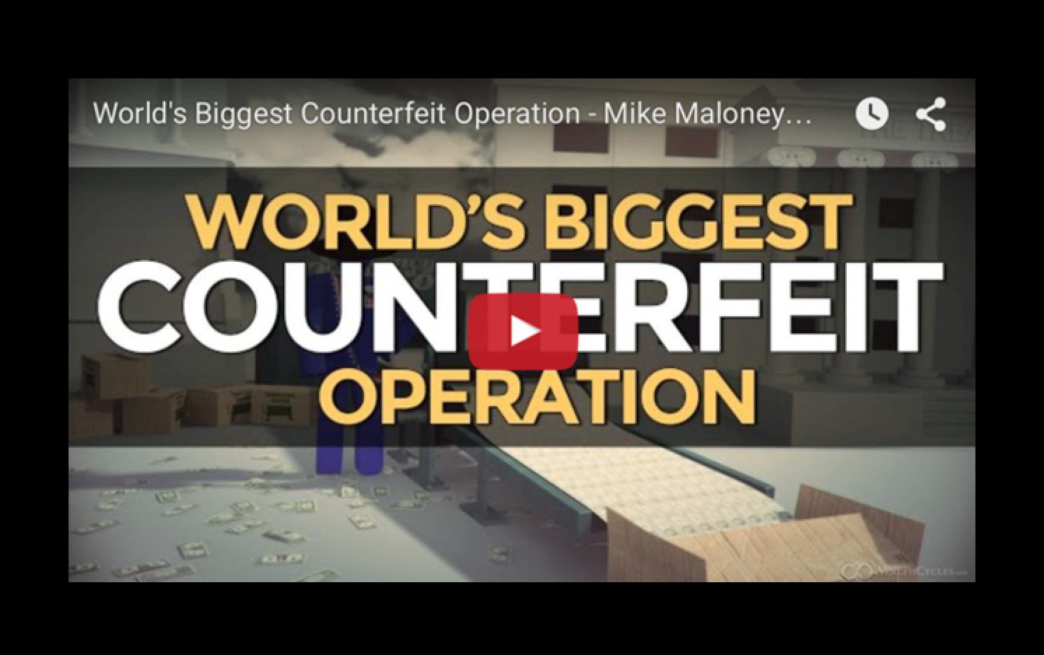 World's Biggest Counterfeit Operation - Mike Maloney & Rick Rule
