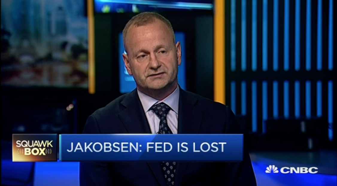 The Fed has put itself in a corner: Saxo Bank chief, Steen Jakobsen,