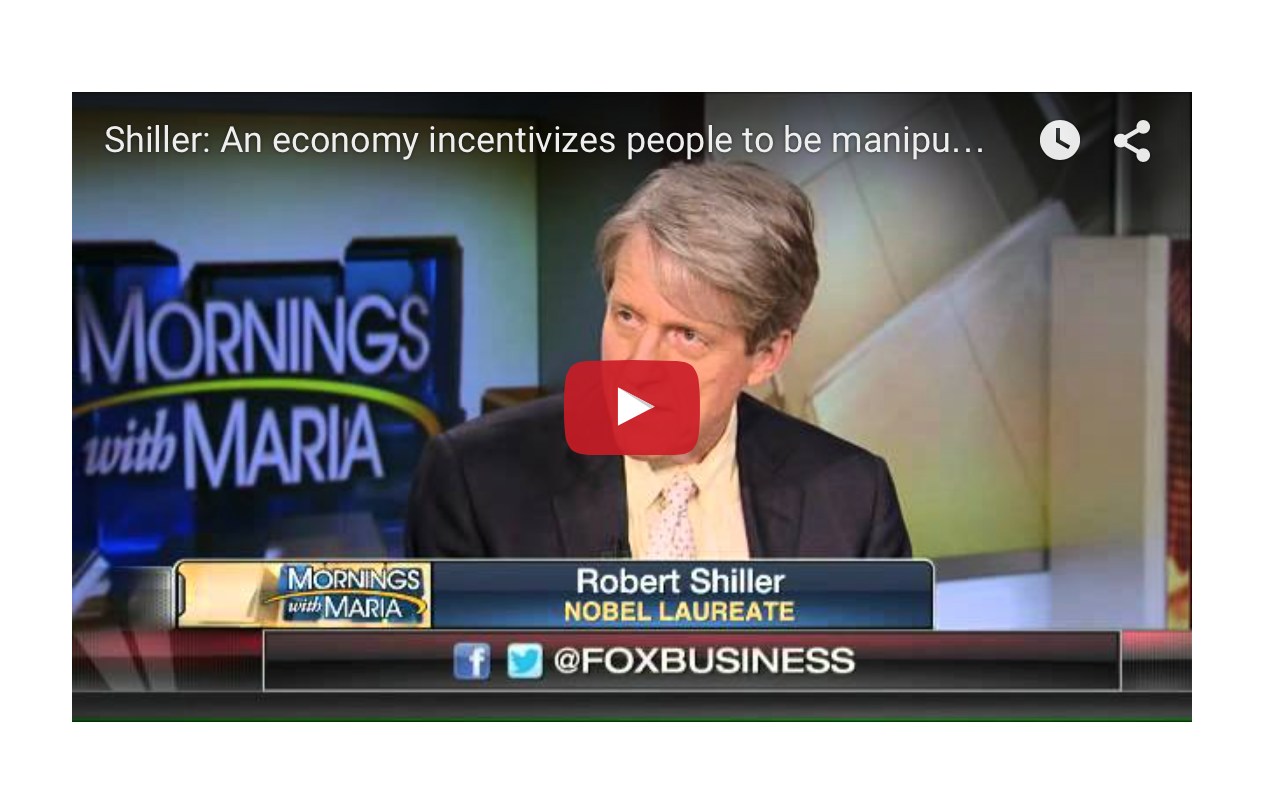 Robert Shiller - We are in Anxious and Worrisome Times