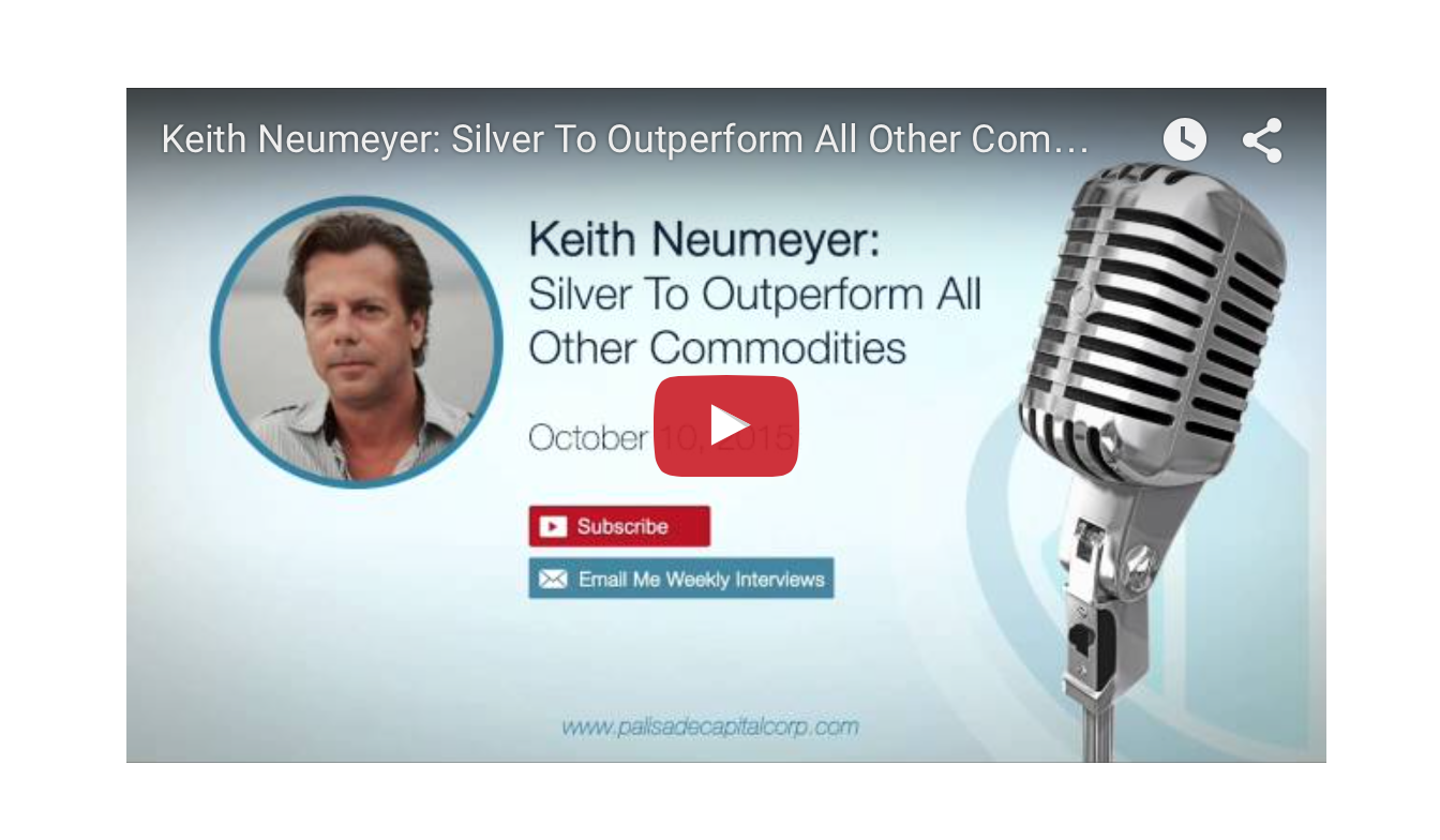 Keith Neumeyer - Silver To Outperform All Other Commodities
