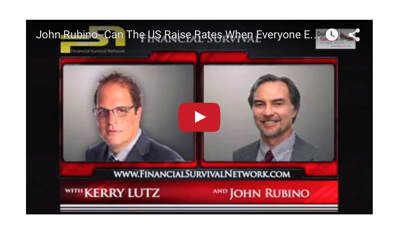 John Rubino - Can The US Raise Rates When Everyone Else Is Cutting Them?