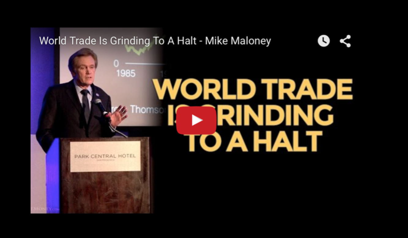 World Trade Is Grinding To A Halt - Mike Maloney