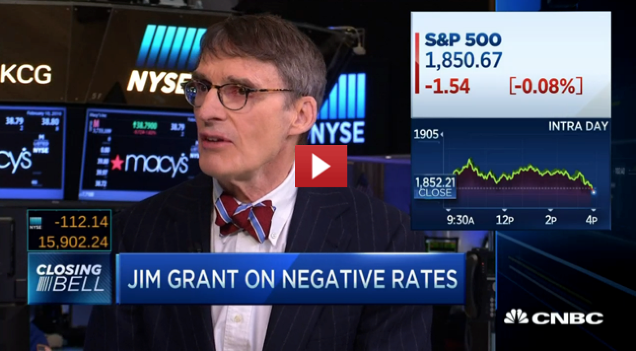 Jim Grant - We are in a recession