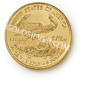 goldsilver.com - American Gold Eagle Coin 1/10 oz - 2015 Back