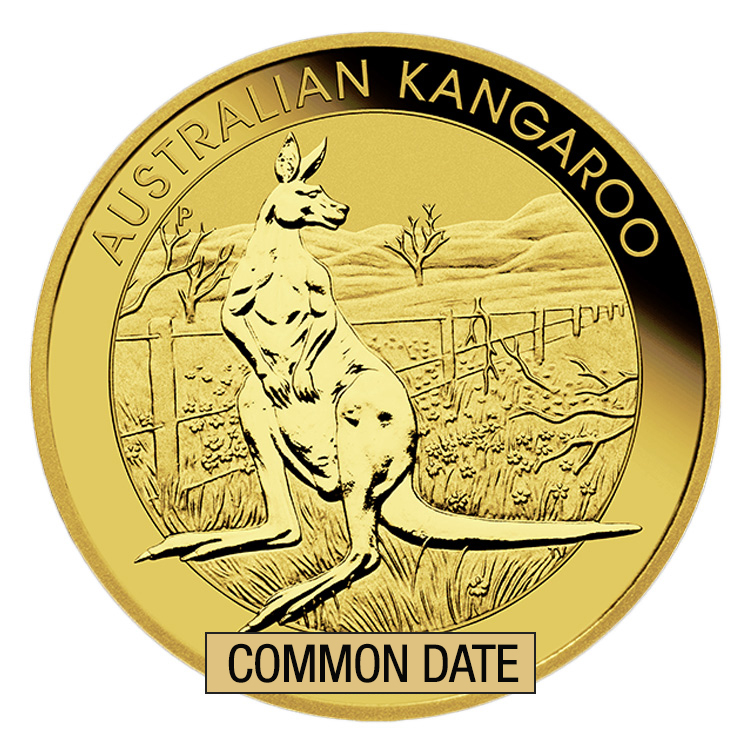 goldsilver.com - 1 oz Australian Kangaroo Gold Coin (Common Date) Back