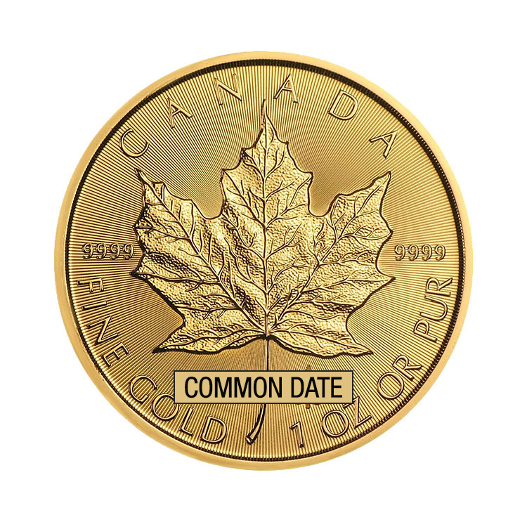 goldsilver.com - 1 oz Canadian Gold Maple Leaf Coin (Common Date) Back