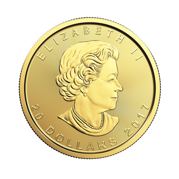 goldsilver.com - 1/2 oz Canadian Gold Maple Leaf Coin (2017) Front