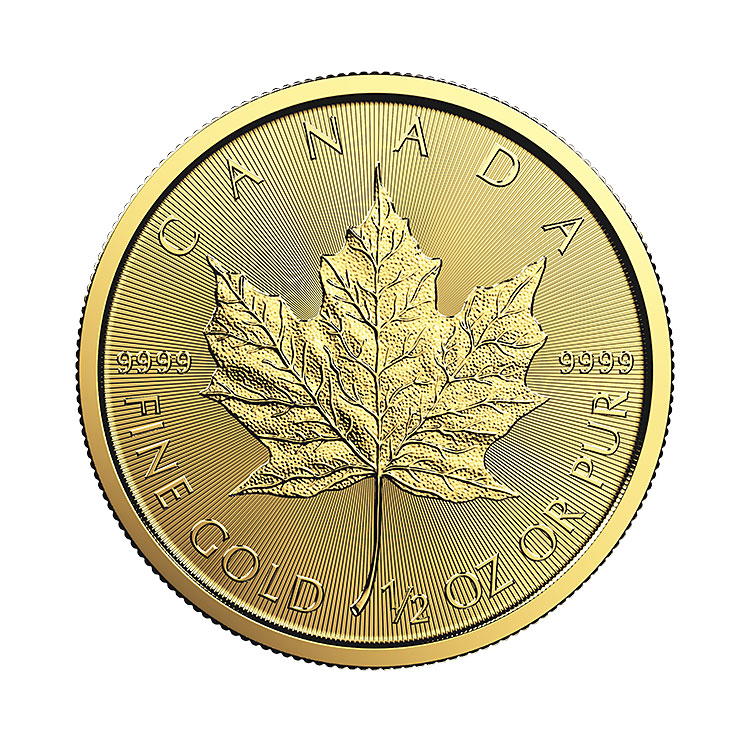 goldsilver.com - 1/2 oz Canadian Gold Maple Leaf Coin (2017) Back