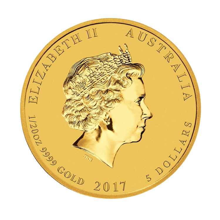 goldsilver.com - 1/20 oz Australian Gold Rooster Coin (2017) Front
