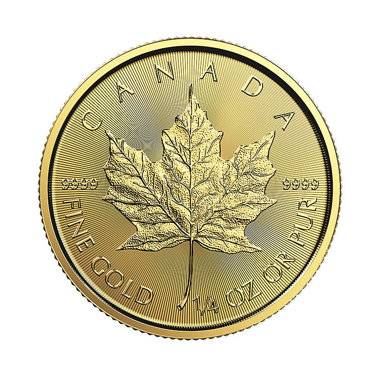goldsilver.com - 1/4 oz Canadian Gold Maple Leaf Coin (Common Date) Back